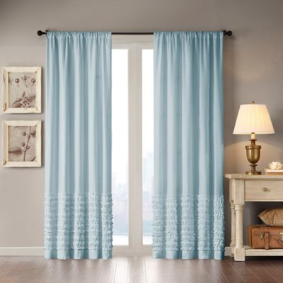 Madison Park Bessie 63-Inch Rod Pocket Window Curtain Panel in Blue