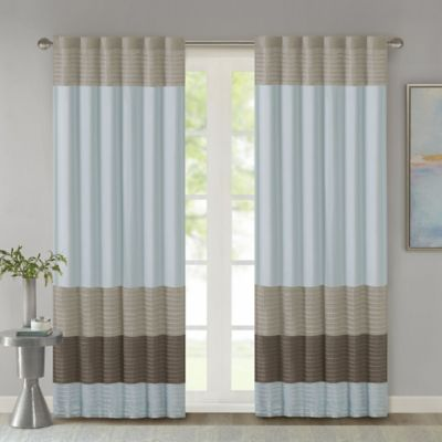 Madison Park Tradewinds 84-Inch Rod Pocket/Back Tab Window Curtain Panel in Blue