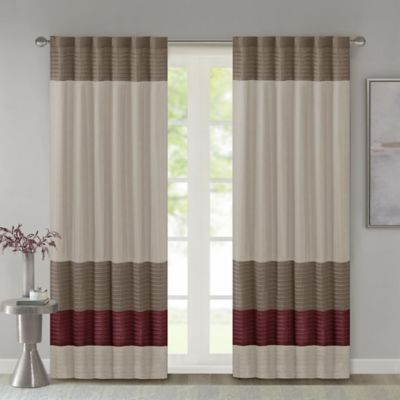 Madison Park Tradewinds 84-Inch Rod Pocket/Back Tab Window Curtain Panel in Red