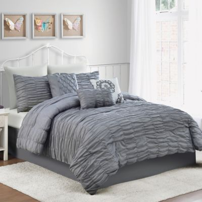 Amelie 7-Piece Twin Comforter Set in Charcoal