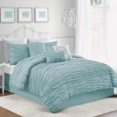 Amelie 7-Piece Queen Comforter Set in Mint