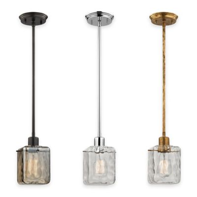 Elk Lighting Watercube 1-Light Pendant in Oiled Bronze