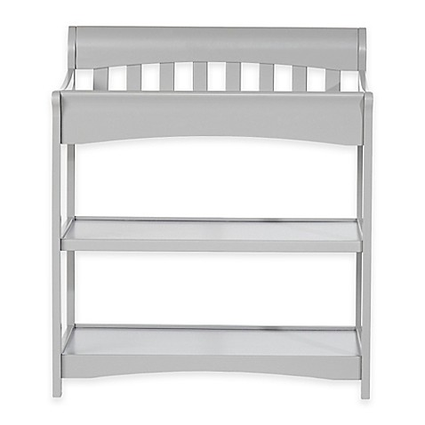 child craft coventry changing table in cool grey bed. Black Bedroom Furniture Sets. Home Design Ideas