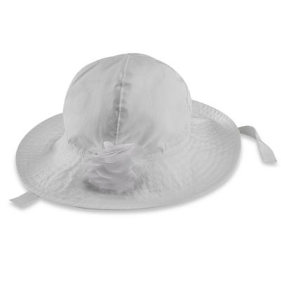 carter's® Size 12-24M Rosette Sun Hat in White