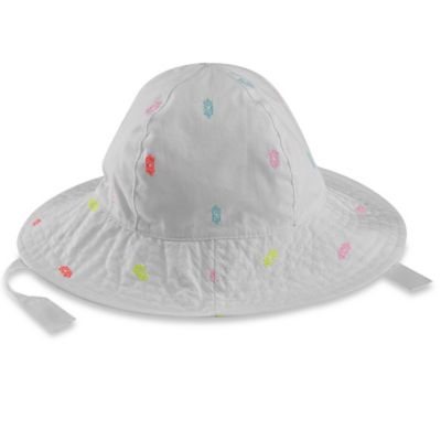 carter's® Size 0-9M Colorful Dotted Sun Hat in White