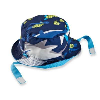 carter's® Size 12-24M Reversible Shark Bucket Hat in Blue