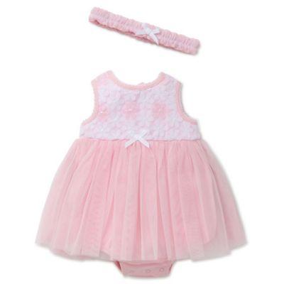 Pink Dress and Headband Set