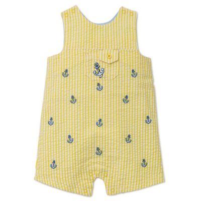 Little Me® Size 3M Seersucker Anchor Sunsuit in Yellow/Blue