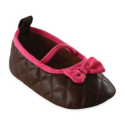 BabyVision® Luvable Friends® Size 12-18M Quilted Mary Jane in Brown