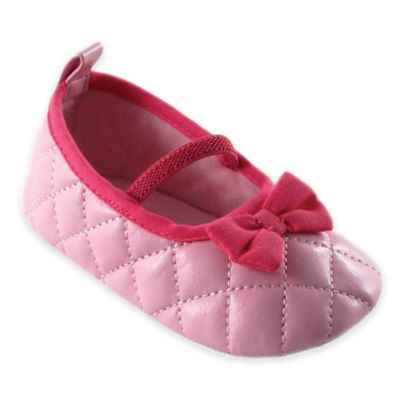 BabyVision® Luvable Friends® Size 12-18M Quilted Mary Jane in Pink