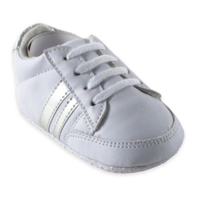 BabyVision® Luvable Friends® Size 12-18M Basic Sneaker with Silver Stripe