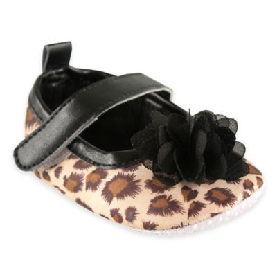 BabyVision® Luvable Friends® Size 12-18M Mary Jane Shoe in Leopard