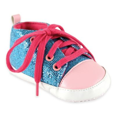 BabyVision® Luvable Friends® Size 12-18M Sparkly Sneaker in Blue/Pink