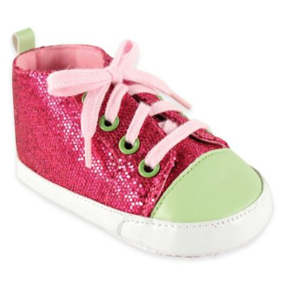 BabyVision® Luvable Friends® Size 6-12M Sparkly Sneaker in Pink