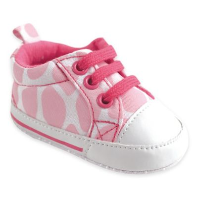 BabyVision® Luvable Friends® Size 6-12M Basic Canvas Sneaker in Pink Giraffe
