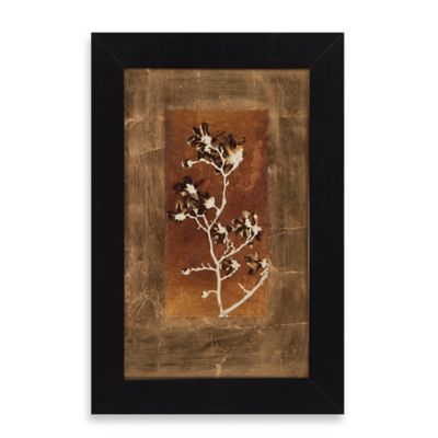 Gold Leaf Branches II Framed Wall Art