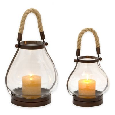 Cambridge 11-Inch Lantern Candle Holder in Bronze