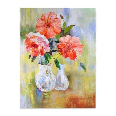 Peachful Morning Canvas Wall Art