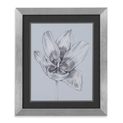Silvery Blue Tulips II Framed Wall Art