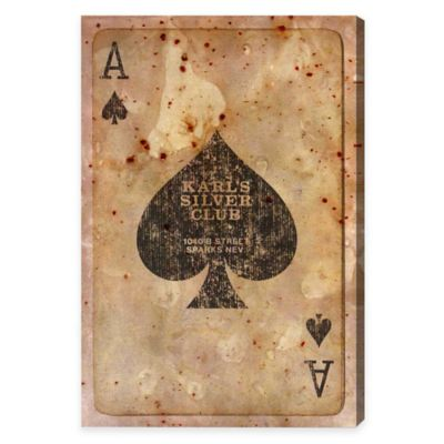 Oliver Gal Ace of Spades Canvas Wall Art