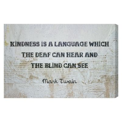 Oliver Gal Artist Co. Kindness is a Language Canvas Wall Art