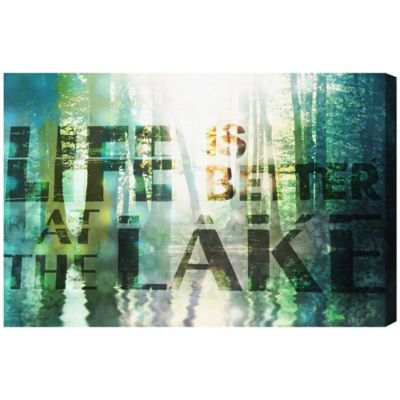 Oliver Gal Artist Co. Life At The Lake Canvas Wall Art