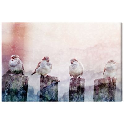 The Oliver Gal Artist Co. Good Day Birds Canvas Wall Art