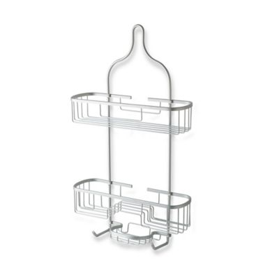 Totally Bath Extra Wide and Extra Long Shower Caddy in Aluminum