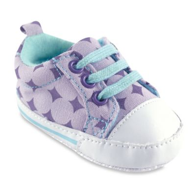 BabyVision® Luvable Friends® Size 0-6M Basic Canvas Sneaker in Lavender Diamond