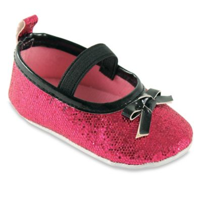 BabyVision® Luvable Friends™ Size 12-18M Sparkly Mary Jane Crib Shoe in Pink