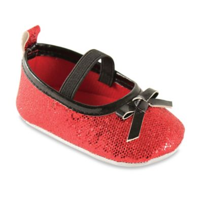 BabyVision® Luvable Friends™ Size 12-18M Sparkly Mary Jane Crib Shoe in Red