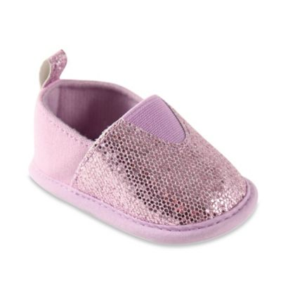 BabyVision® Luvable Friends® Size 12-18M Sparkly Slip-On Shoe in Lavender