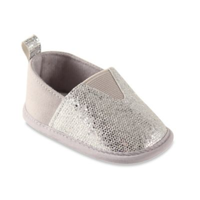 BabyVision® Luvable Friends® Size 12-18M Sparkly Slip-On Shoe in Silver