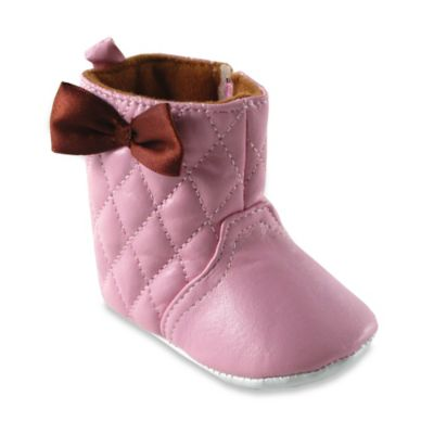 BabyVision® Luvable Friends® Size 6-12M Quilted Boot in Pink