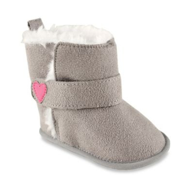BabyVision® Luvable Friends® Size 12-18M Faux Suede Boots in Grey