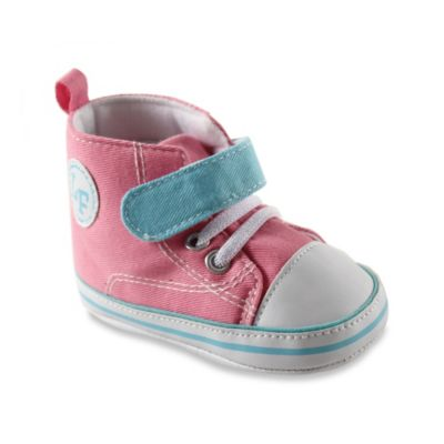 BabyVision® Luvable Friends™ Size 0-6M Color Block Hi-Top Sneaker in Pink