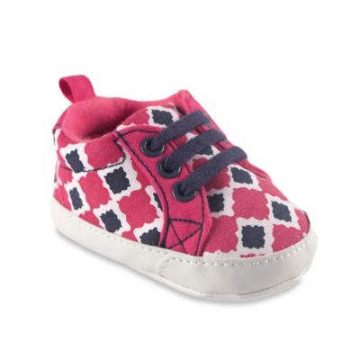 BabyVision® Yoga Sprout™ Size 0-6M Print Canvas Sneaker in Pink Bird