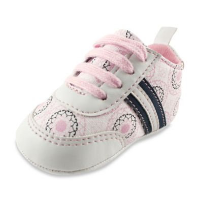 BabyVision® Yoga Sprout Size 0-6M Ornamental Print Sneaker in Pink
