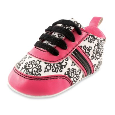 BabyVision® Yoga Sprout Size 6-12M Damask Sneaker in Pink/Black