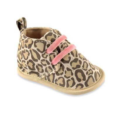 BabyVision® Luvable Friends™ Size 0-6M Desert Boots in Leopard
