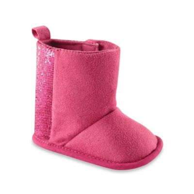 BabyVision® Luvable Friends® Size 6-12M Sparkle Boots in Pink