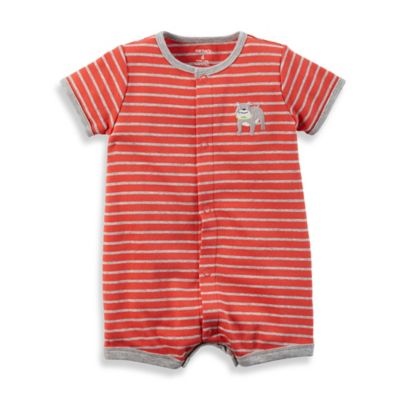 carter's® Size 3M Snap-Up Cotton Dog Romper in Red