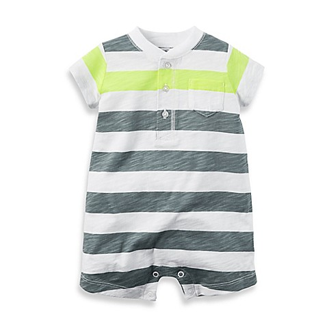 carter s Stripe Romper in Grey Neon BABY #2: m $478$