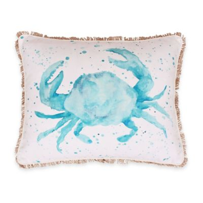 Thro Carmello Watercolor Crab Oblong Throw Pillow