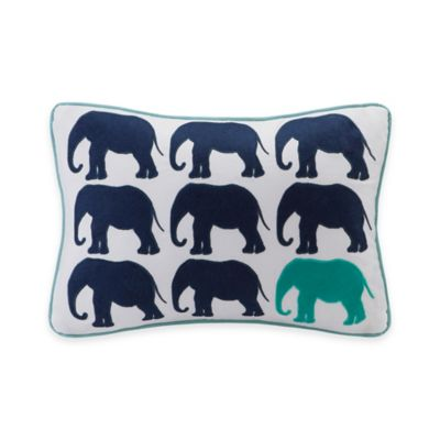 Madison Park HipStyle Elephant Oblong Pillow in Aqua