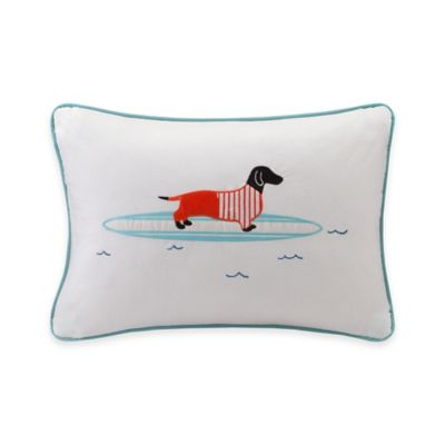 Madison Park Hipstyle Surfboard Dog Oblong Throw Pillow