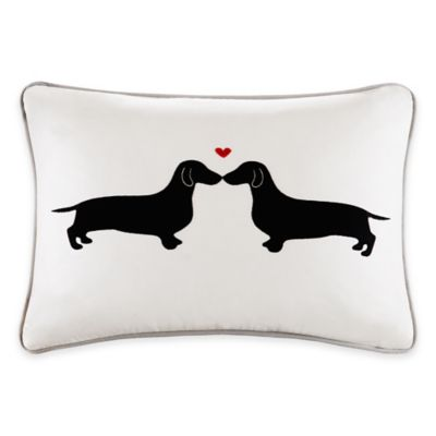 Madison Park HipStyle Kissing Dog Oblong Pillow in Grey