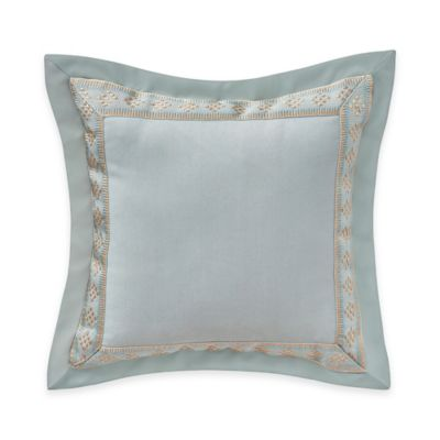 Waterford® Linens Valerie Embroidered Throw Pillow in Sea Blue