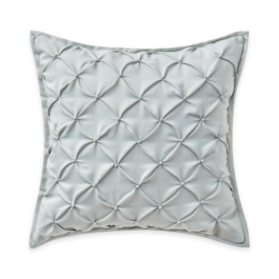 Waterford® Linens Valerie Pintucked Throw Pillow in Sea Blue