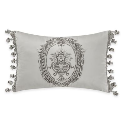 Waterford® Linens Whitney Breakfast Throw Pillow in Platinum